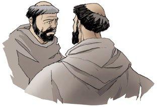 Saint François d'Assise et frère Léon