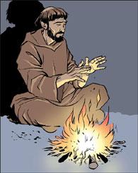 François d'Assise et le feu